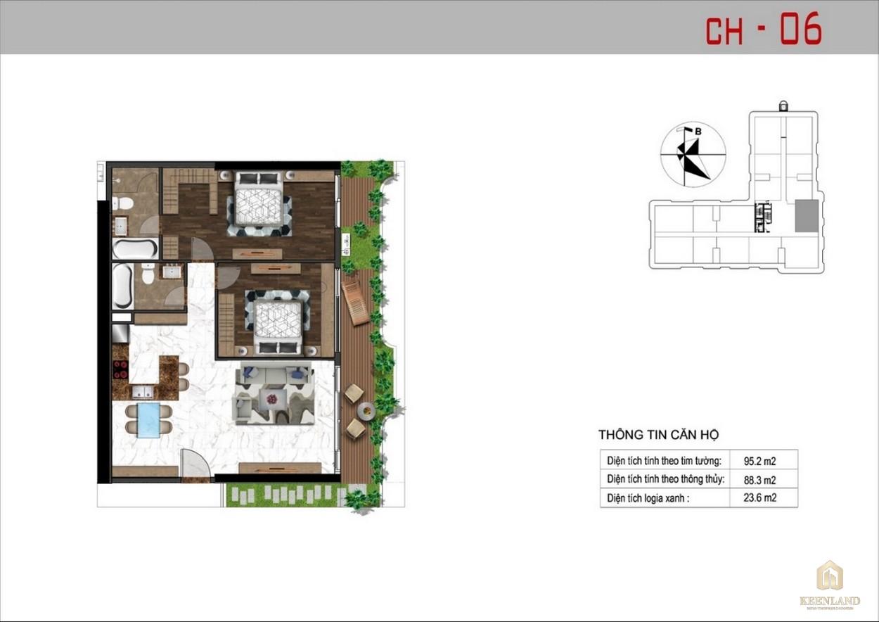 Thiết kế căn hộ 6 dự án Sunshine Tower