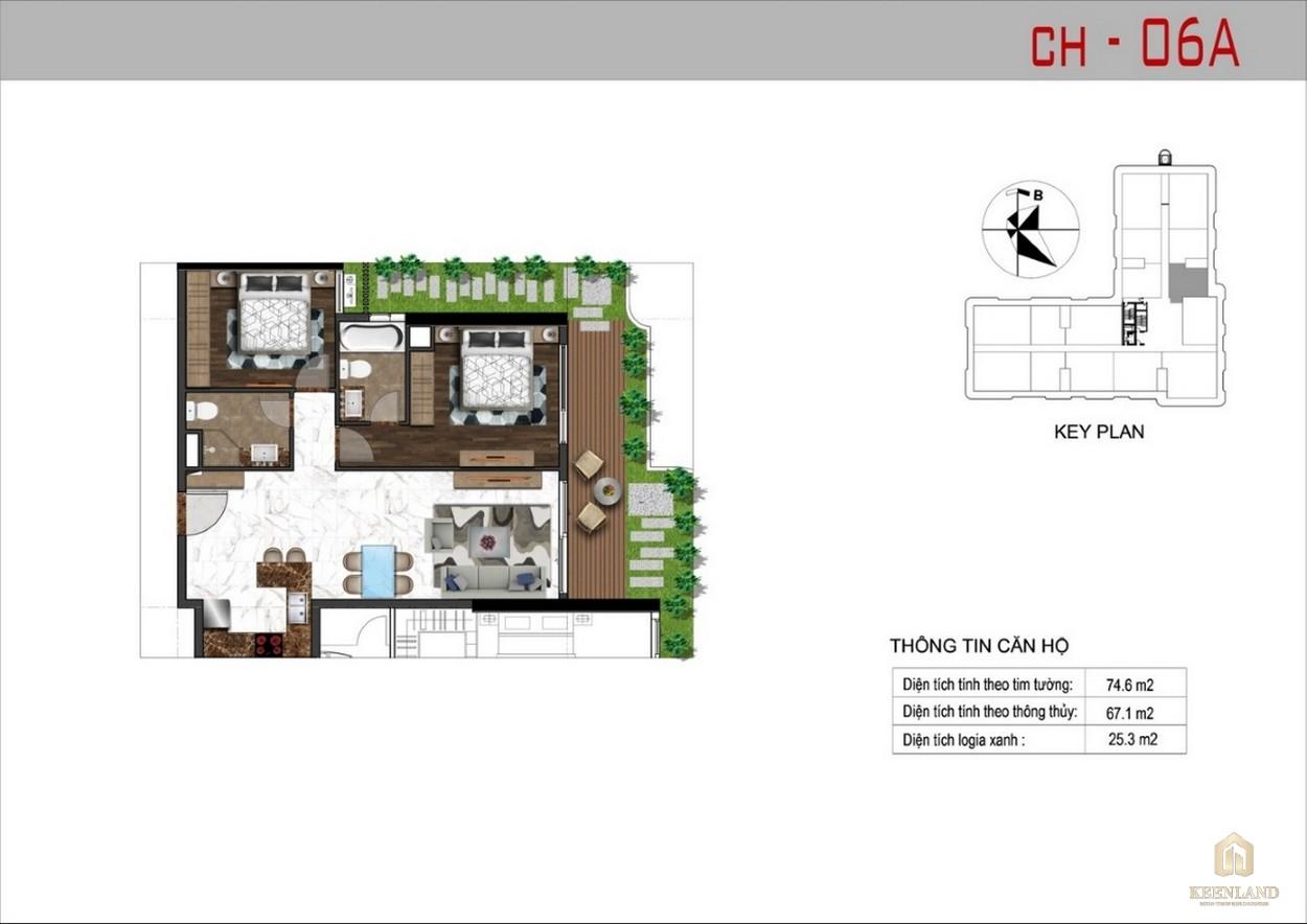 Thiết kế căn hộ 6A dự án Sunshine Tower