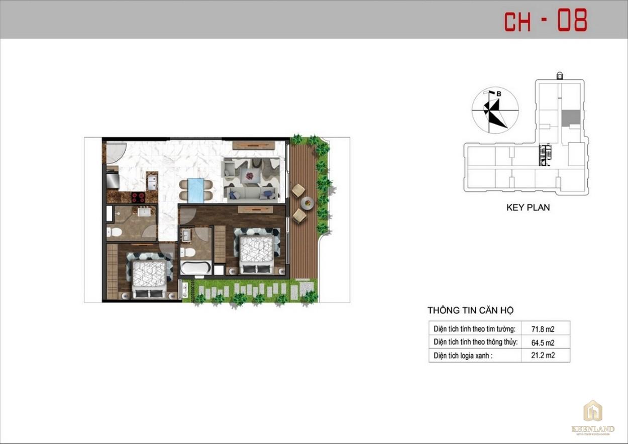 Thiết kế căn hộ 8 dự án Sunshine Tower
