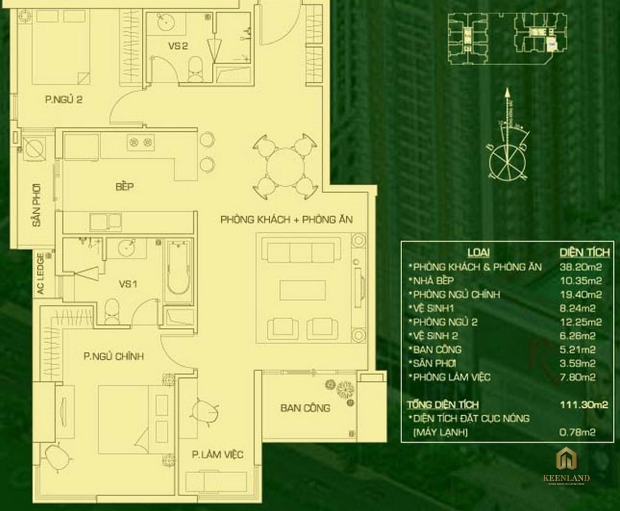 Thiết kế chi tiết căn hộ The EverRich 1