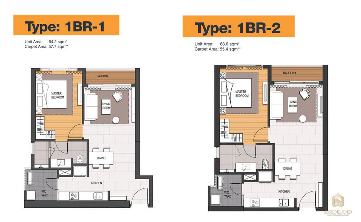 Thiết kế chi tiết căn hộ 1 PN dự án Empire City Quận 2
