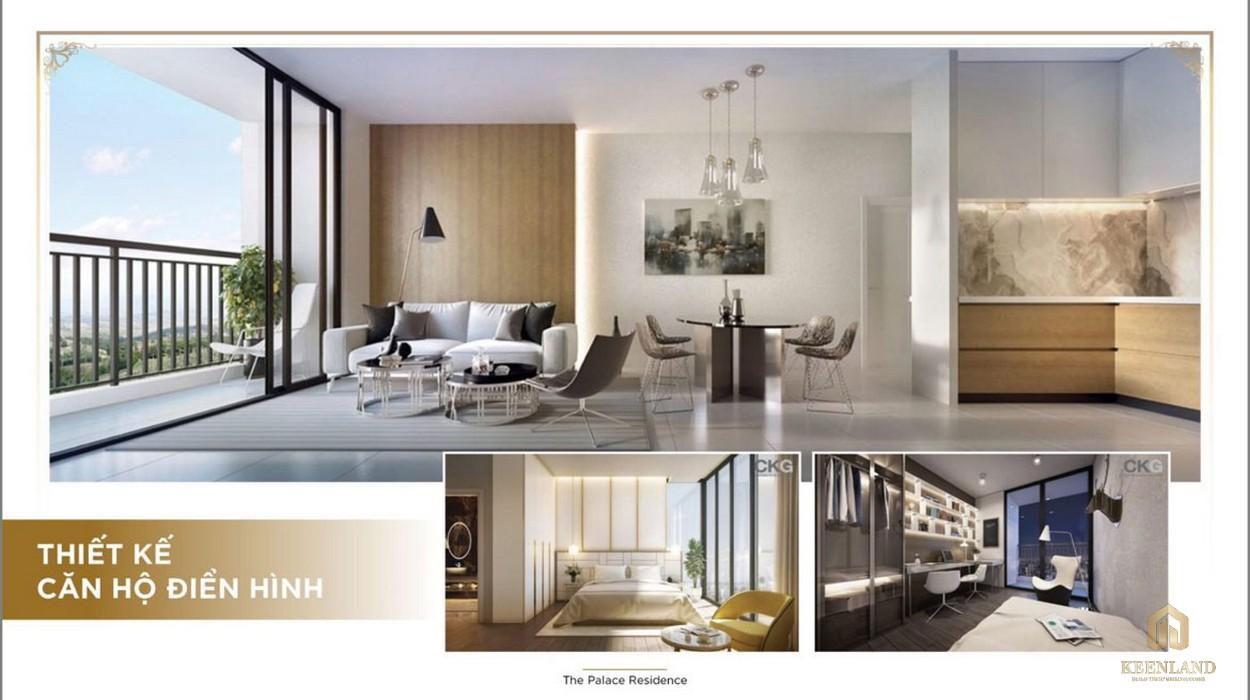 Thiết kế căn hộ điển hình The Palace Residence Quận 2 Đường Mai Chí Thọ chủ đầu tư Novaland