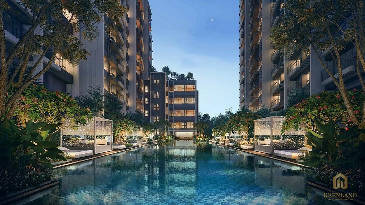 Tiện ích Hồ bơi dự án căn hộ The River Thủ Thiêm Quận 2