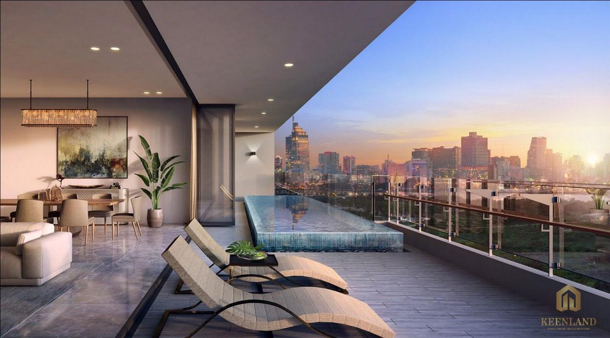 Nhà mẫu penthouse dự án The River Thủ Thiêm Quận 2