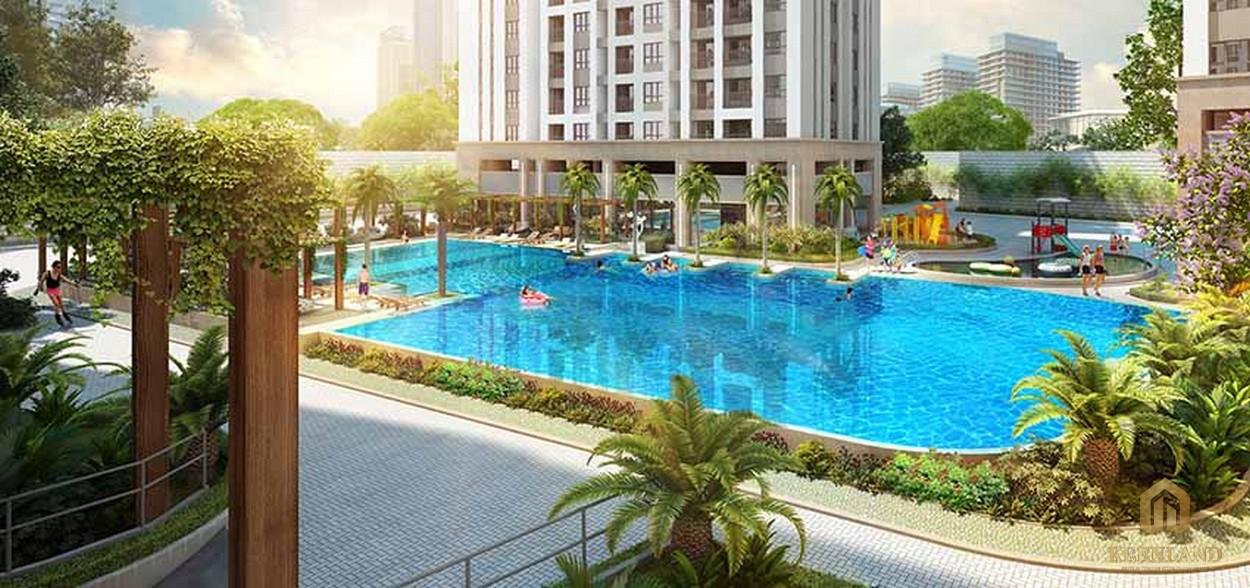 Hồ bơi tràn bờ thiết kế chuẩn resort nghỉ dưỡng đẳng cấp