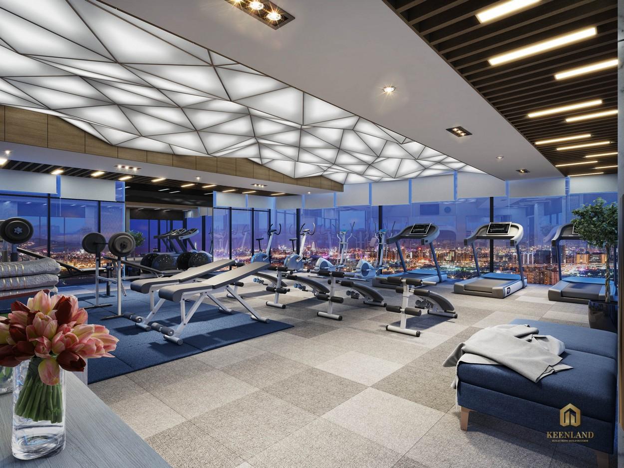 Phòng gym tại dự án Ascott Waterfront Saigon