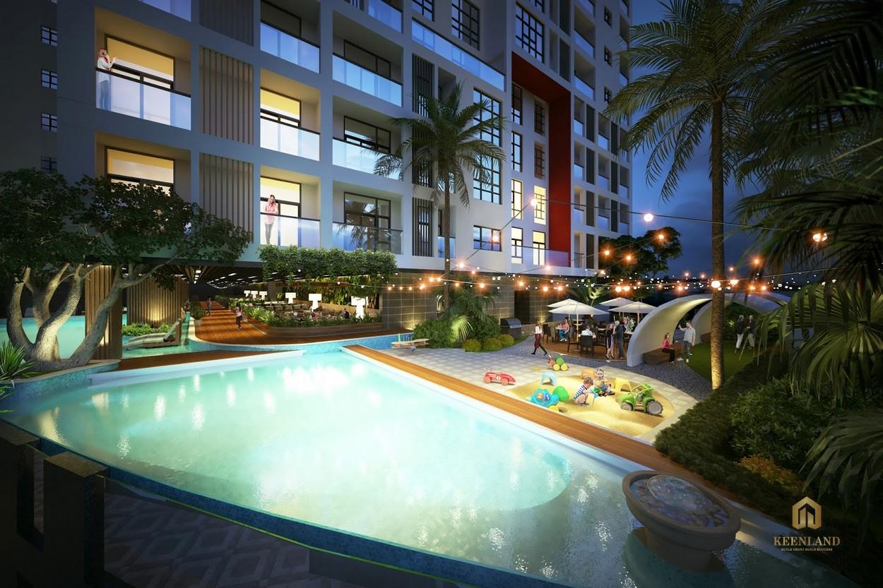 Bể bơi 4 mùa - Tiện ích nội khu chung cư Ascott Waterfront Saigon