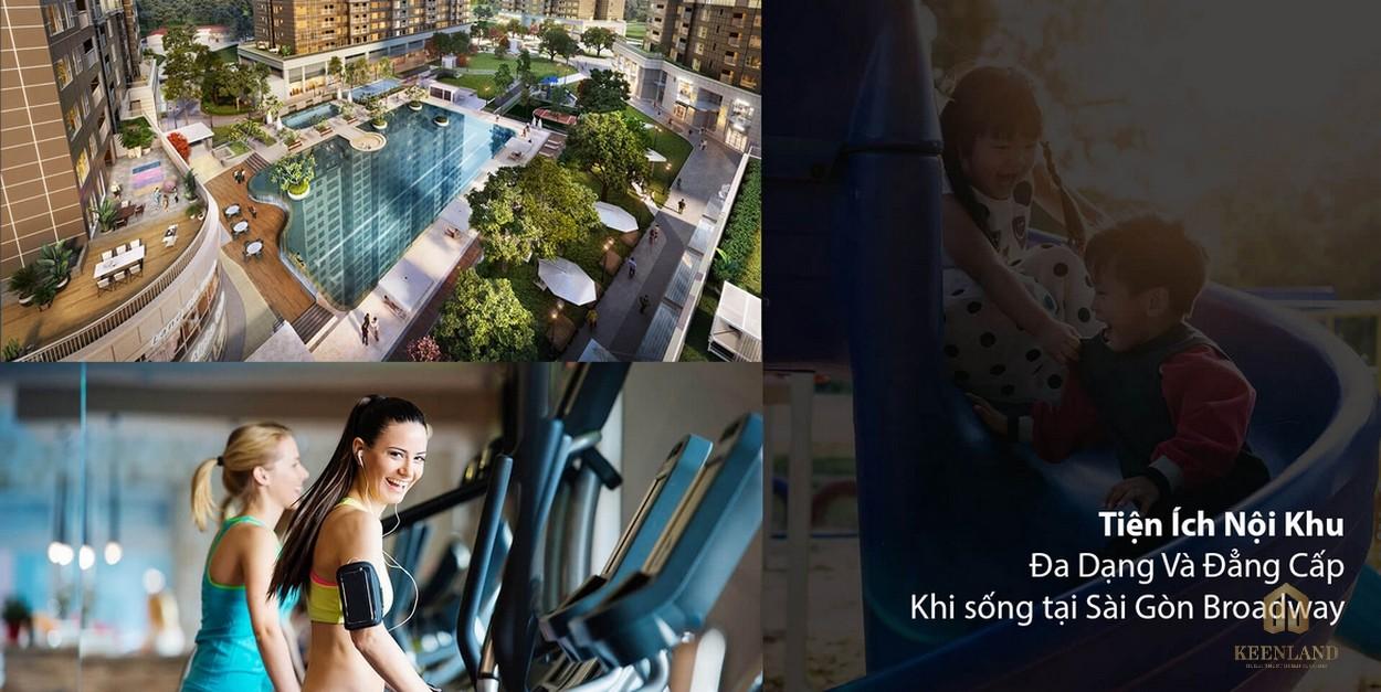 Hệ thống tiện ích nội khu đa dạng tại dự án Saigon Broadway