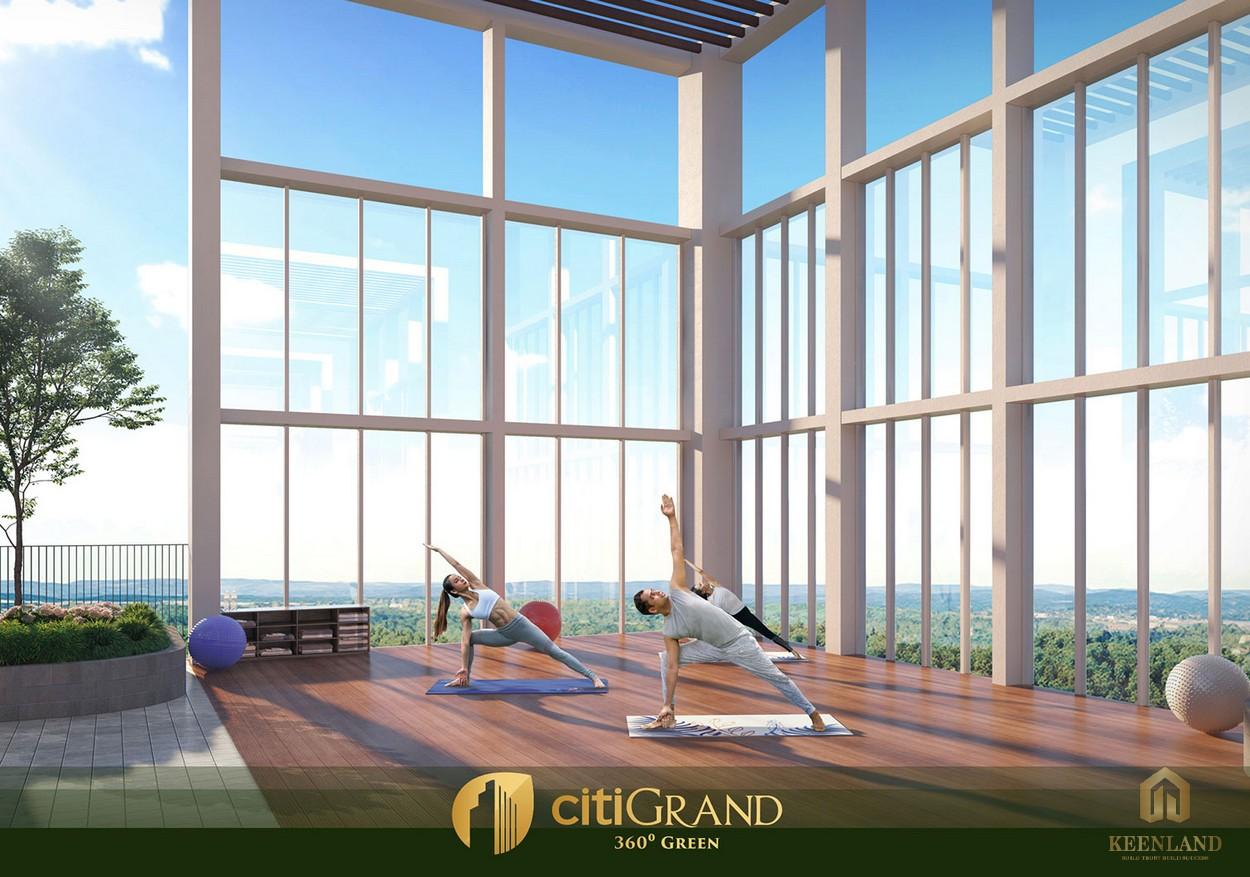 Các phòng tập gym, yoga dự án căn hộ Citi Grand Quận 2