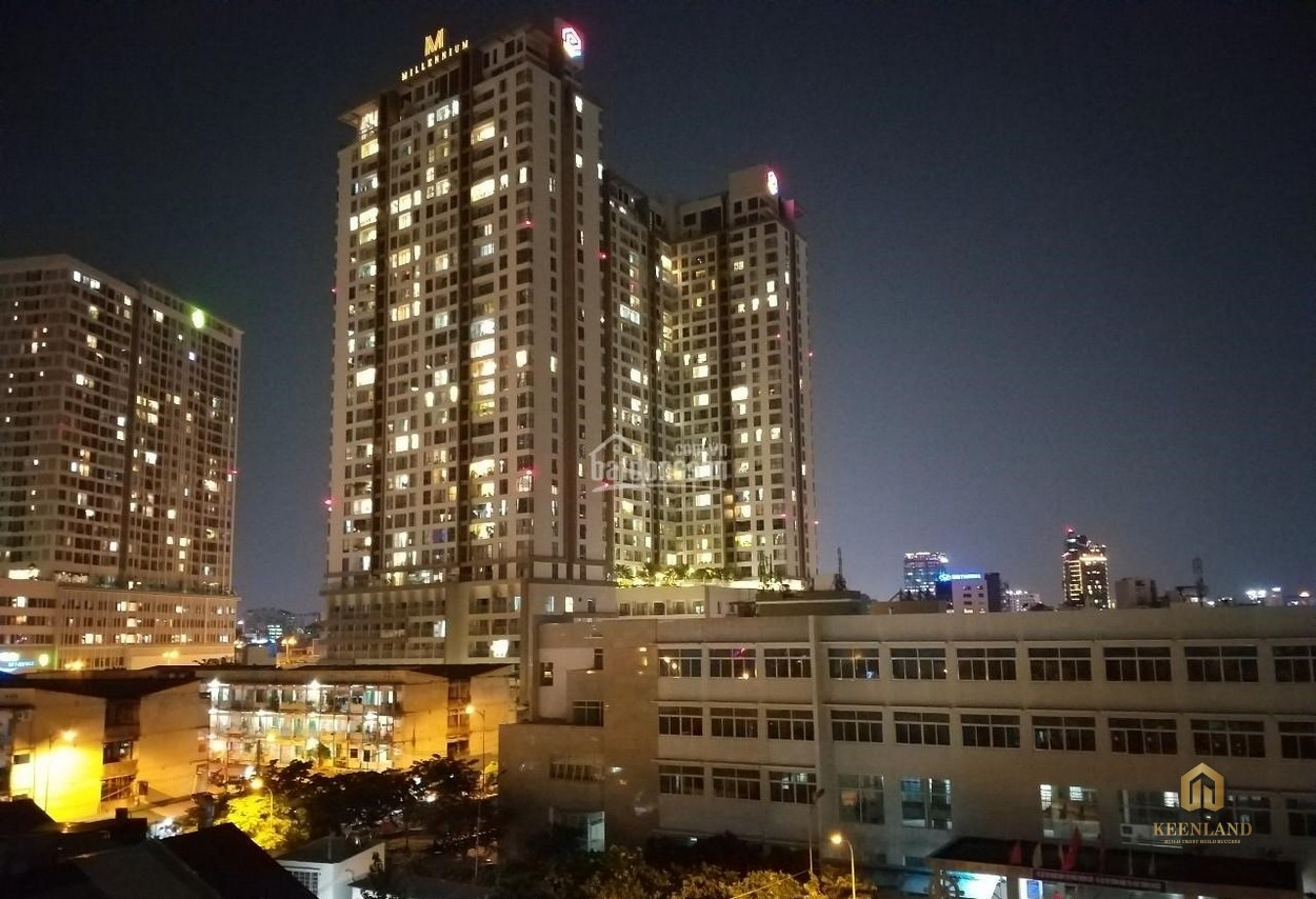 Tổng thể chung cư H1 Hoàng Diệu về đêm