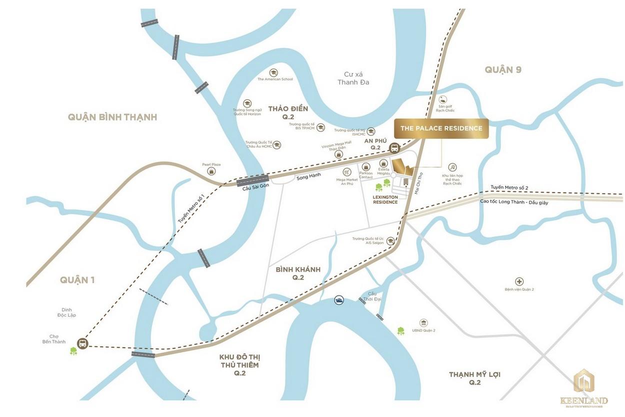 Vị trí địa chỉ dự án căn hộ chung cư The Palace Residence