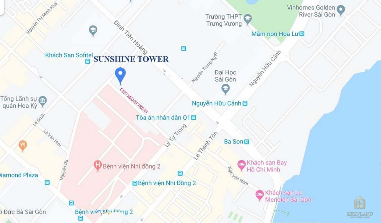 Vị trí đắc địa tại dự án Sunshine Tower trung tâm quận 1