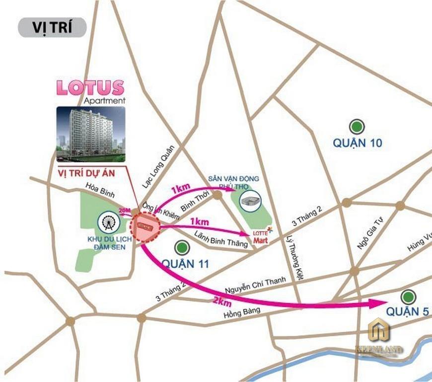 Vị trí dự án Lotus Apartment