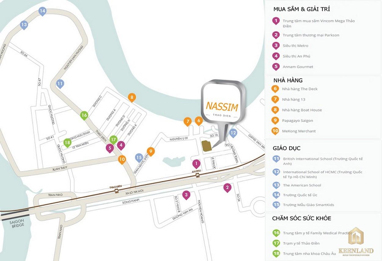 Kết nối dự án tại vị trí căn hộ cao cấp The Nassim Thảo Điền