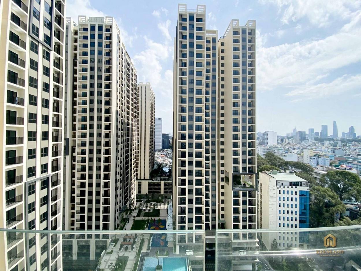 Vị trí nhìn về trung tâm tư căn hộ Hà Đô