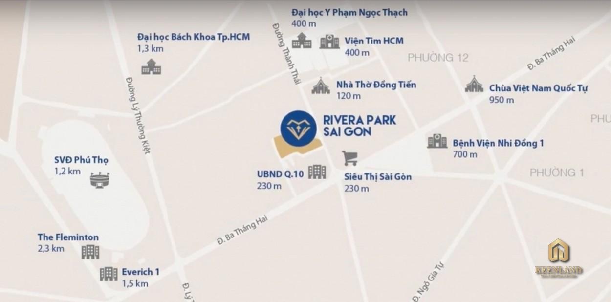 Vị trí dự án Rivera Park Sài Gòn