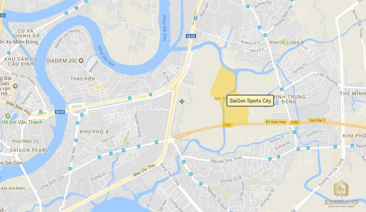 Vị trí dự án căn hộ SaiGon Sport City quận 2