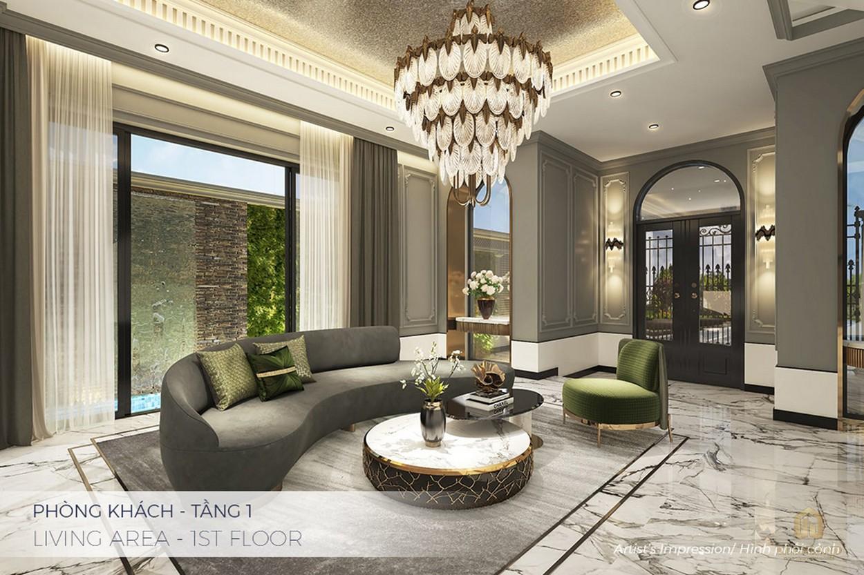 Sảnh đón khách tầng 1 tại dự án căn hộ Q2 THẢO ĐIỀN