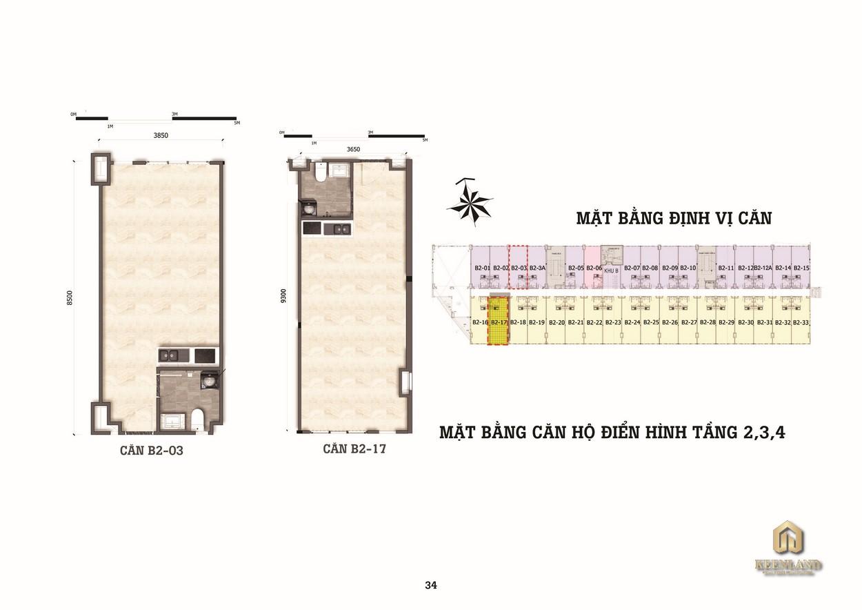 Thiết kế căn hộ studio Diyas Sky chủ đầu tư C.T Group