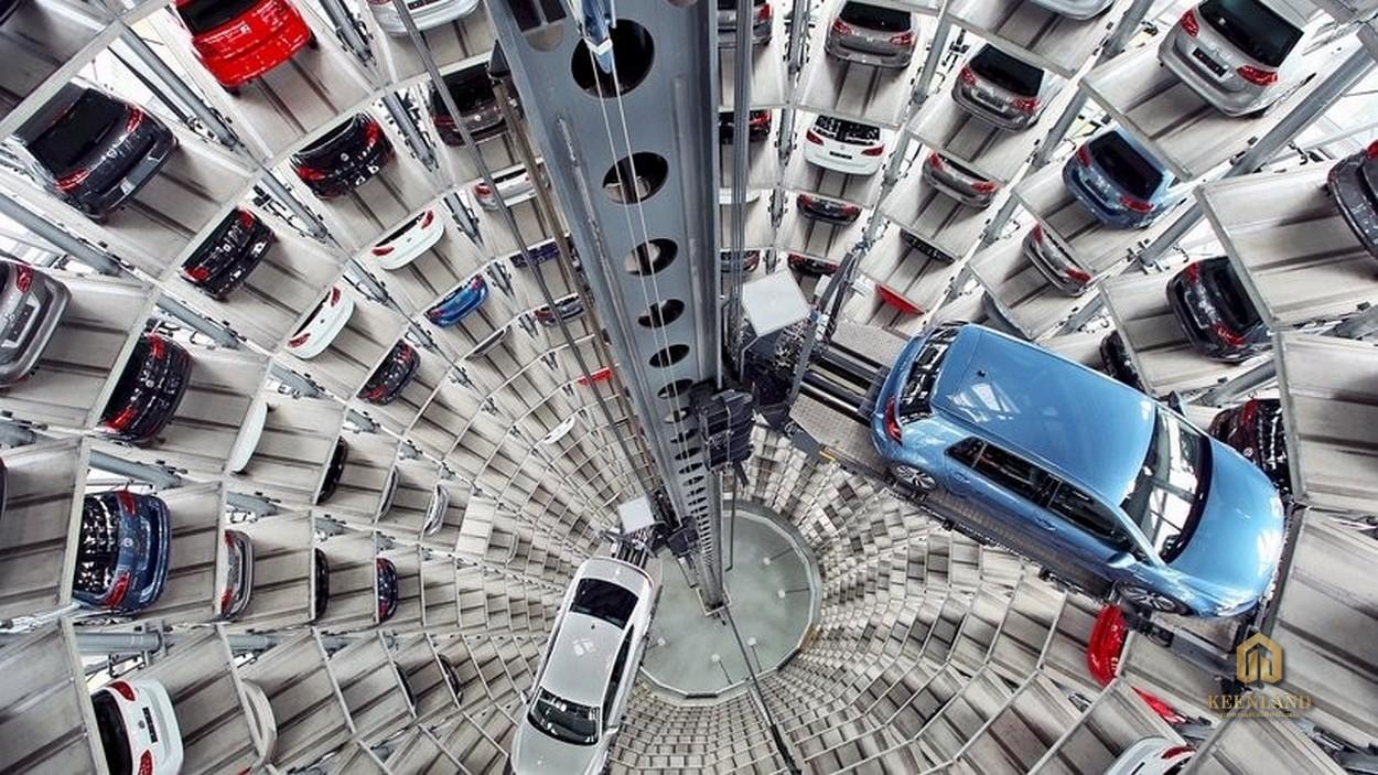 Bãi đỗ xe thông minh tại Diyas Sky Tân Bình