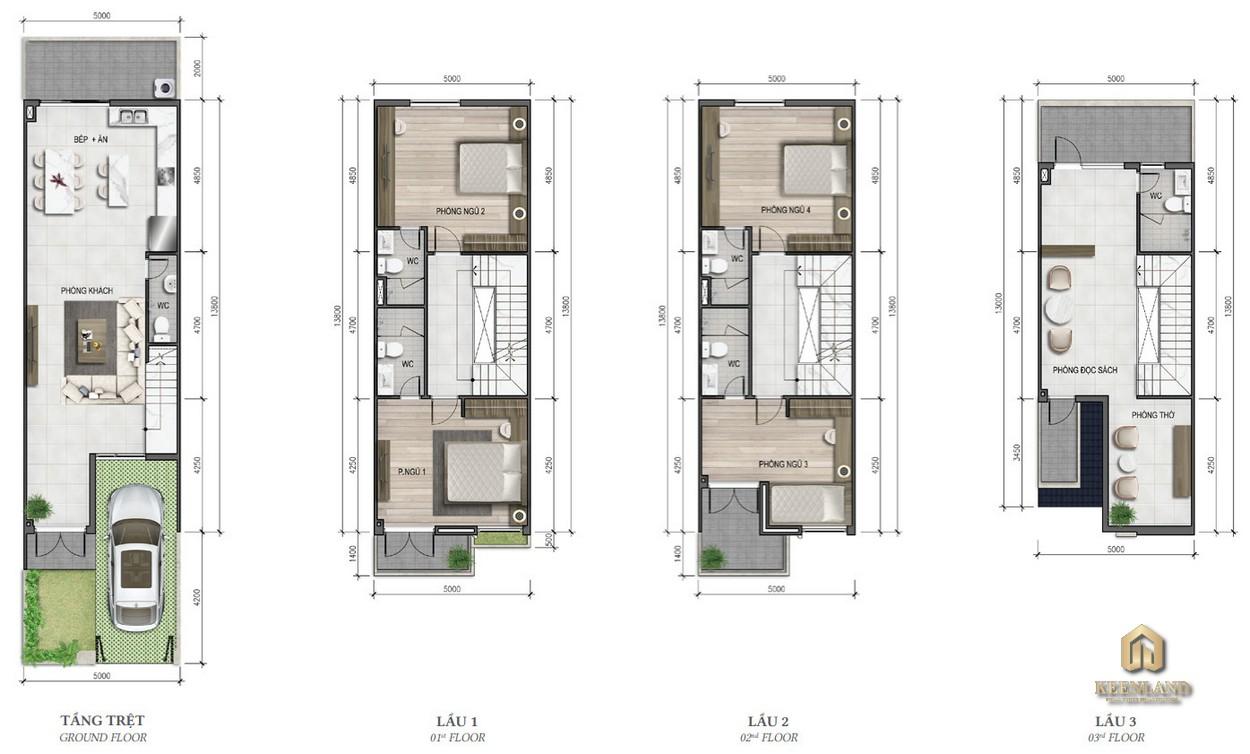 Thiết kế nhà phố Merosa Park diện tích 5x16m