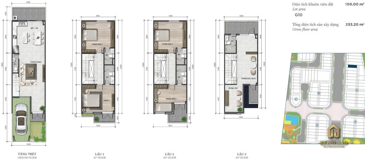 Thiết kế nhà phố Merosa Park diện tích 5x20m