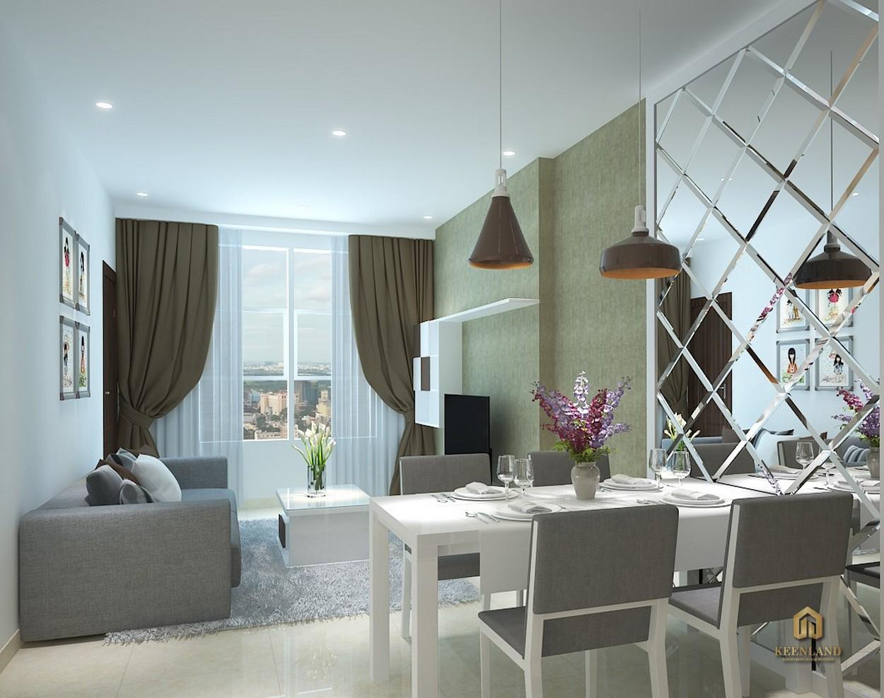 Thiết kế nhà ăn căn hộ mẫu Icon 56
