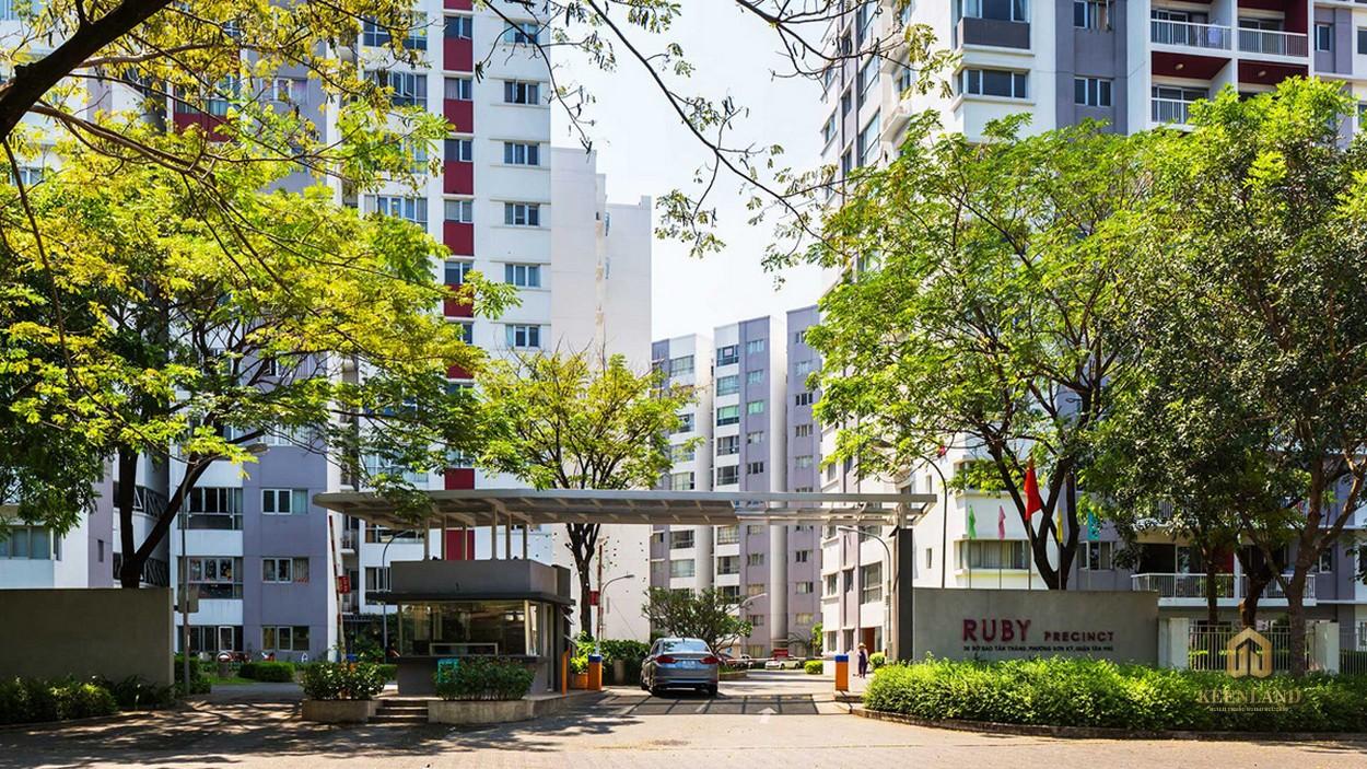 Cổng chính block A - B Khu Ruby dự án Celadon City