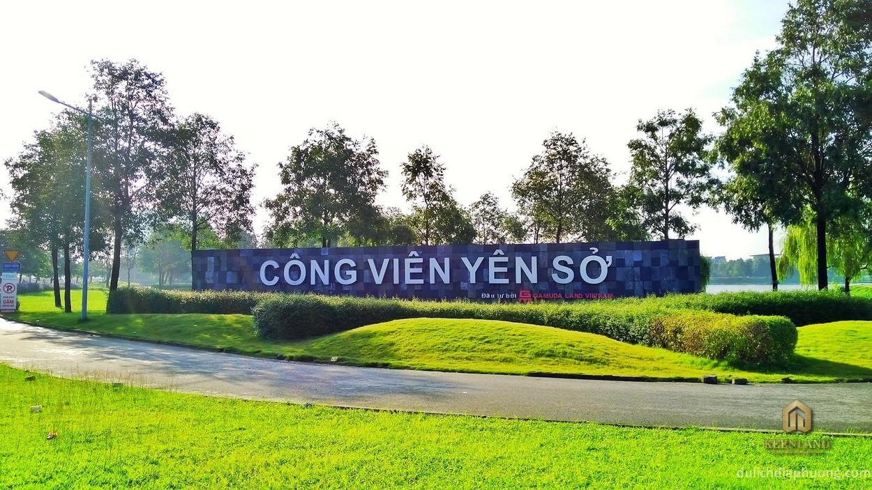 Tổng quan công viên Yên Sở