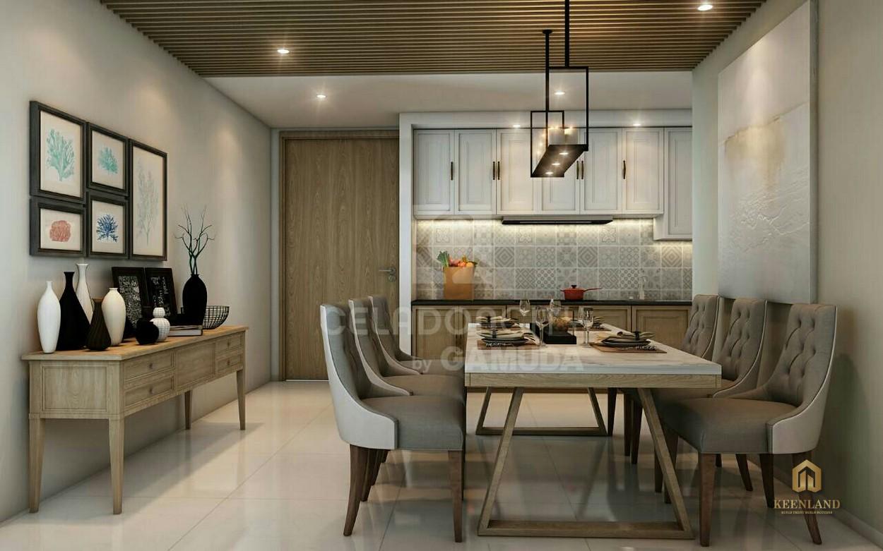 Thiết kế nhà ăn căn hộ Celadon City Tân Phú