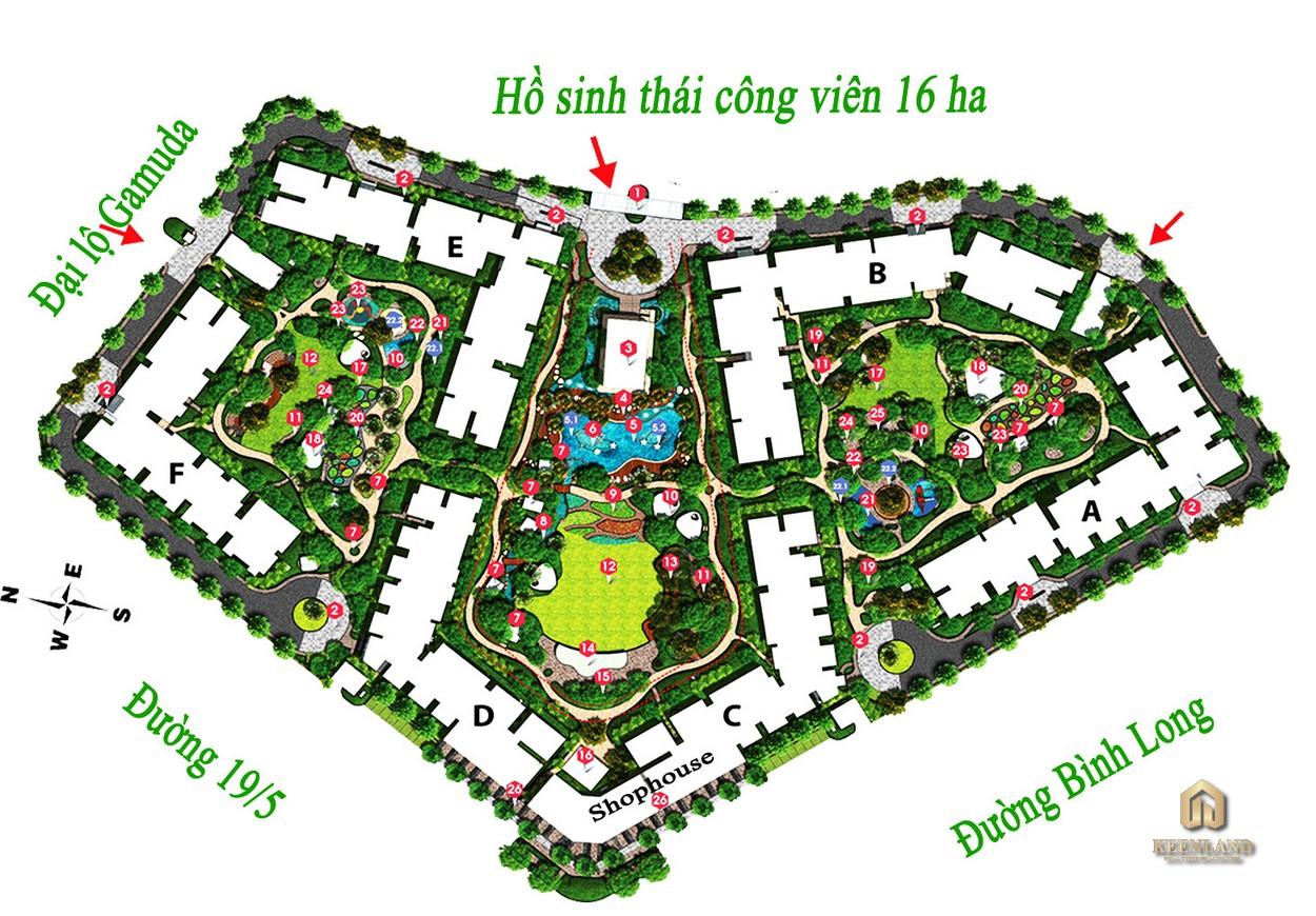 Mặt bằng khu Emerald dự án Celadon City