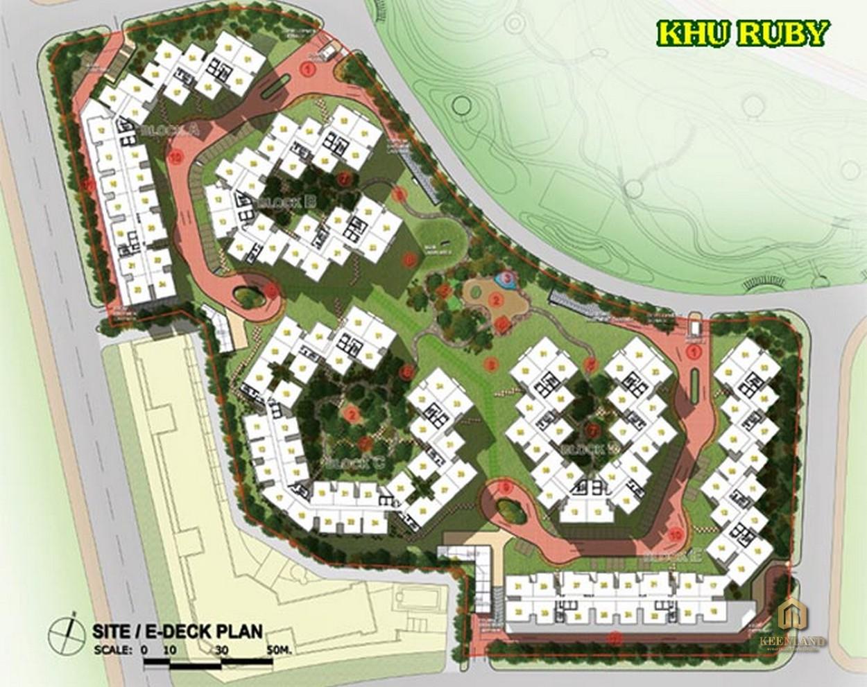 Mặt bằng khu Ruby tại dự án Celadon City