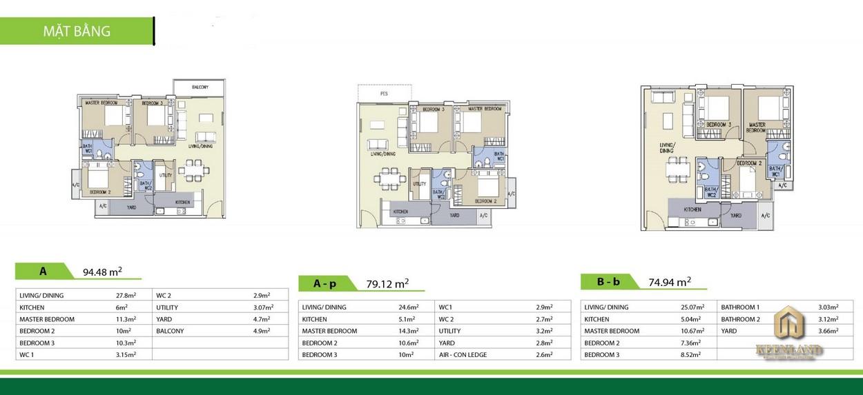 Thiết kế chi tiết căn hộ Celadon City 3 phòng ngủ